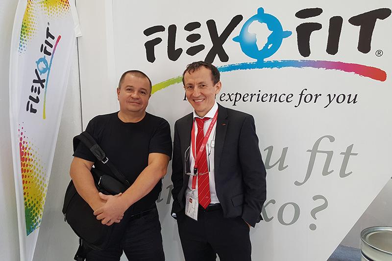 Flexofit Drupa 2016 Oleg Valiev and Gerold Zadorov