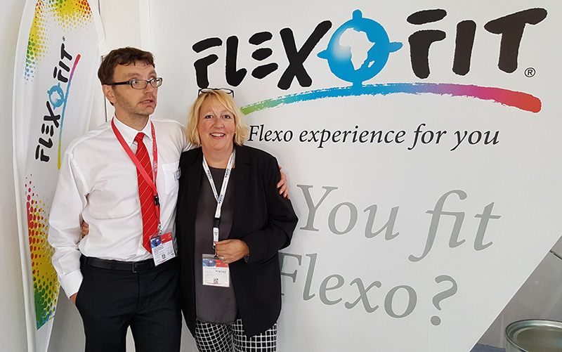 Flexofit Drupa 2016 Tomasz Nojszwewski and Karla Grey