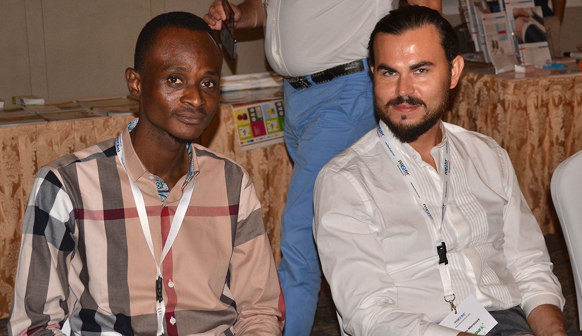 Dan Tetteh, Manager of company Printek, Tema and Tomasz Maraszek, Area Sales Manager of Chespa, Poland