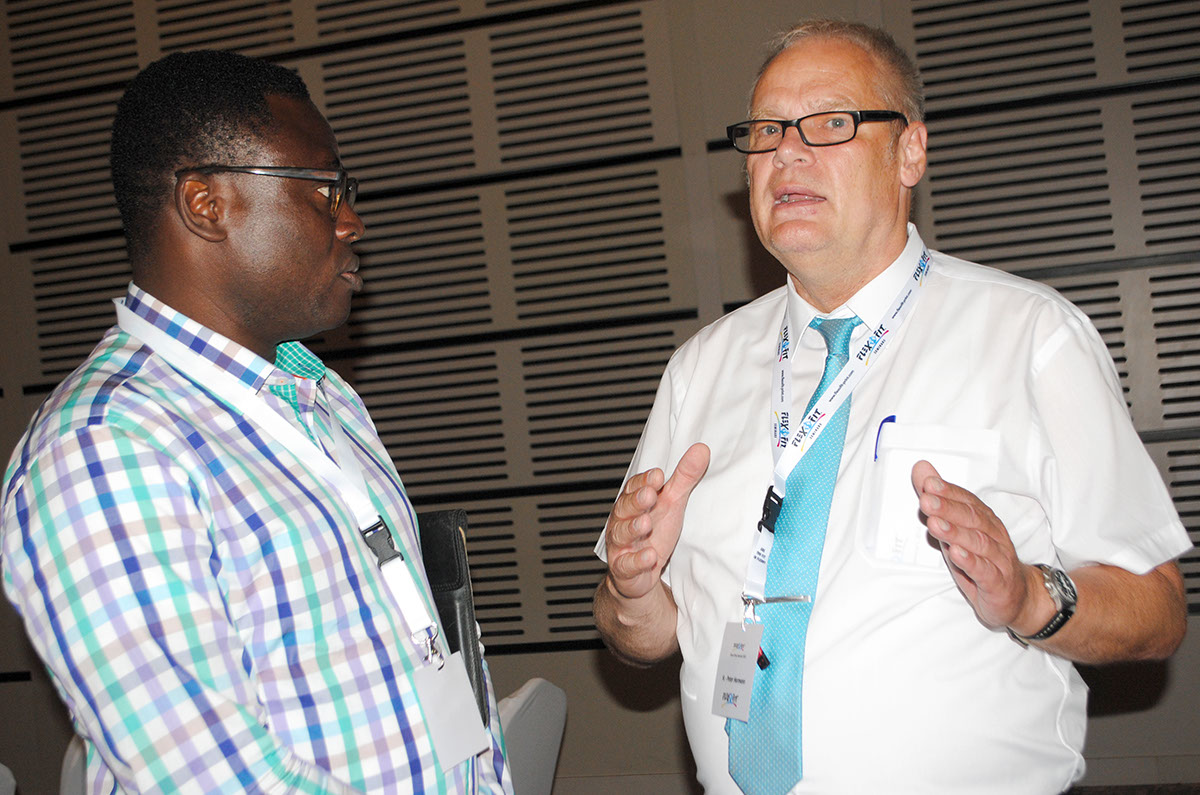 George Haizel, Accra, Representative of DuPont Advanced Printing and Peter Hormann, Flexofit
