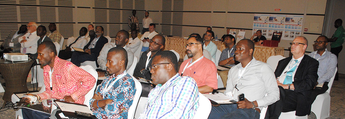 Audience listening to presentation at Flexofit Ghana Seminar