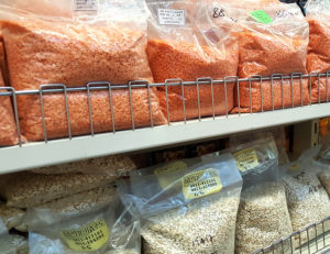 Lentils and Rice in a supermarket in Addis Ababa