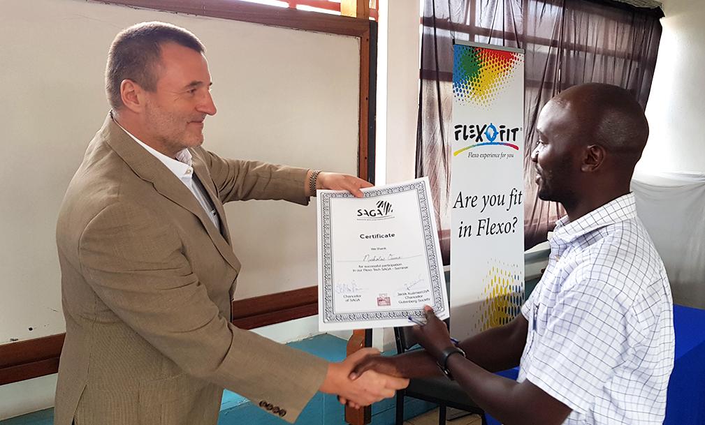 SAGA Kenya Seminar Certificate